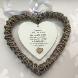 Shabby personalised Chic Special BEST Friend ~ ANY NAME Willow Heart Present BFF - 233008528858
